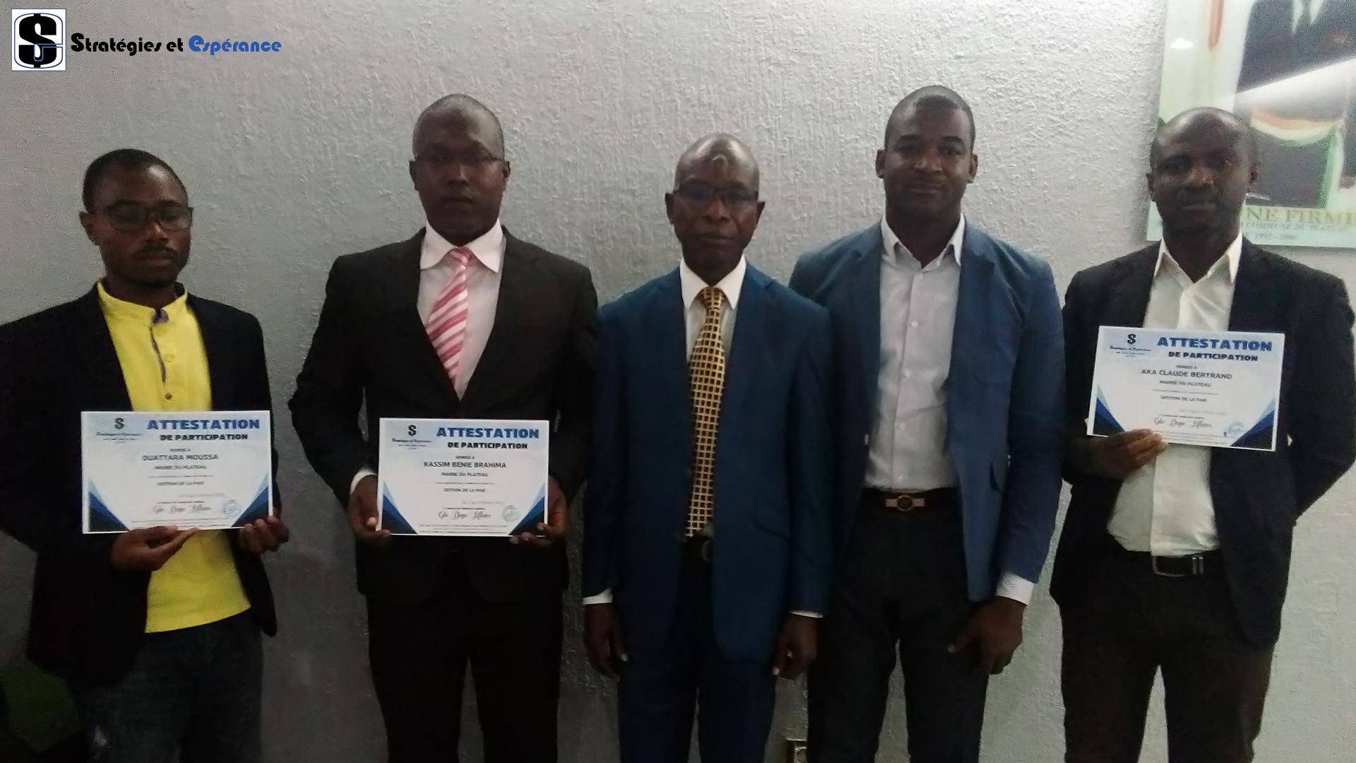 Février 2020: Gestion de la Paie avec le personnel de la Mairie du Plateau